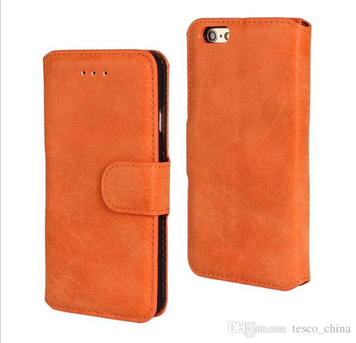 Wallet PU Leather Case Cover Pouch With Card Holder for iPhone 4S 5S 6 6S PLUS Galaxy S5 S6 EDGE NOTE 4