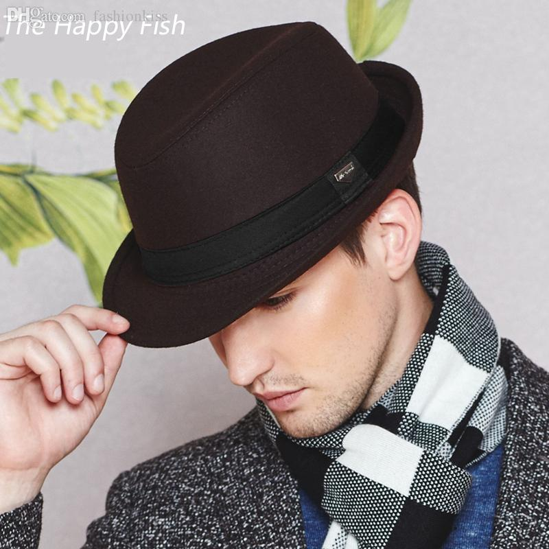 Wholesale Vintage Fedora Hat Black Fedora Hats For Men Wool Felt Hat Mens  Hats Fedoras UK 2019 From Fashionkiss 079c3322d3c