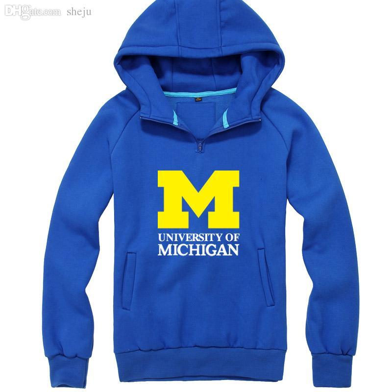 Wholesale University Of Michigan American Universities Thicken Hoodie Hoody  Souvenir Uniform Sweatshirts Pullover For Men And Women UK 2019 From Sheju 1be4db80d