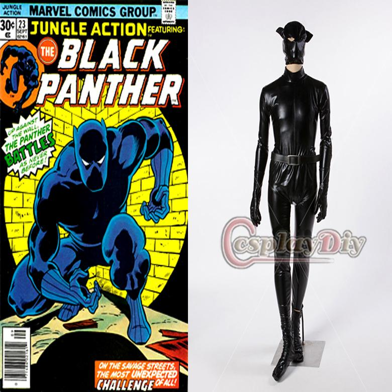 2019 Custom Made Marvel Comics Black Panther Costume Adult Men S