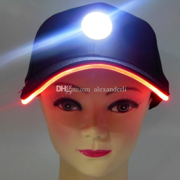 Fashion Party Hats with LED Lights Baseball Caps Travelling Sun Hat Varible Rich Colors Adjustment Size Caps