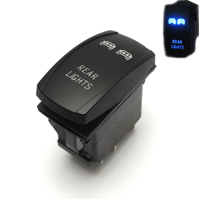 Wholesale- For Polaris RZR XP 900 1000 Ranger 14 15 LED Rear Light Rocker  Switch Blue for John Deere Gator XUV UTV