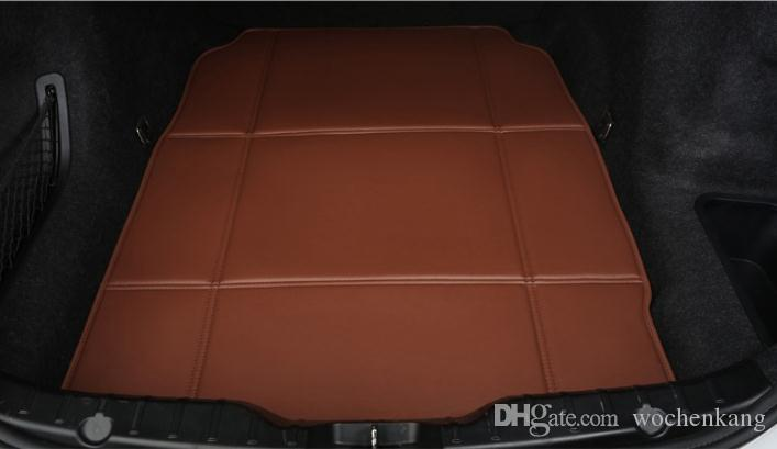 Waterproof shockproof PU leather folding car trunk mat For Porsche cayenne