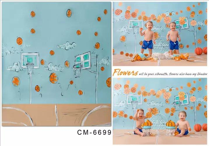 5X7ft Basketball Art Wall Painting Vinyl Photography Background For Photos Muslin Computer Printed Digital Backdrop Fabric Backgrounds