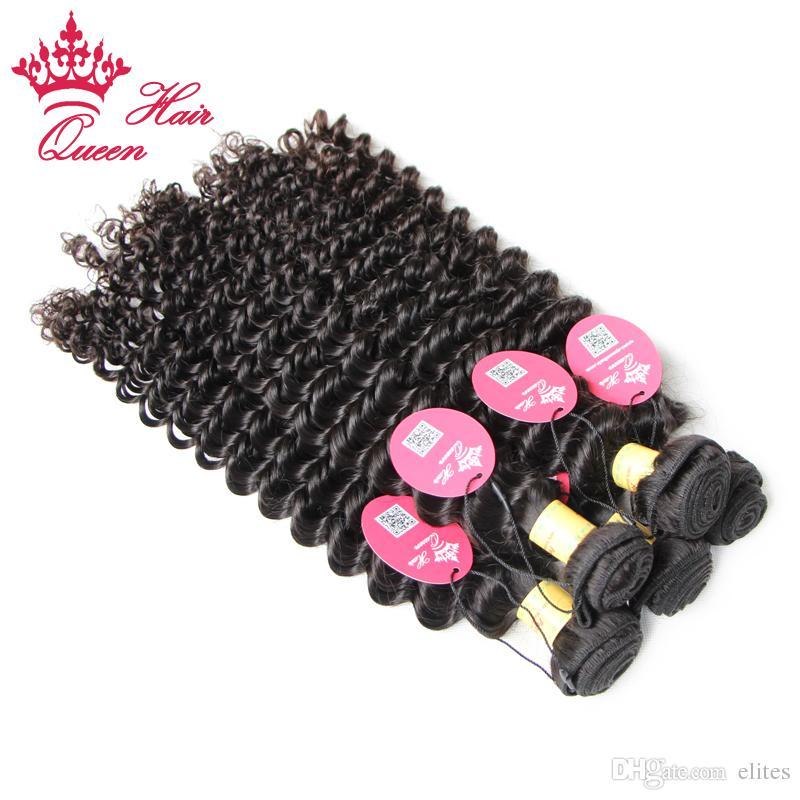 ملكة الشعر بيرو عذراء الشعر المجعد موجة عميقة عميق عذراء الشعر المجعد سعر المصنع 12 إلى 28inch