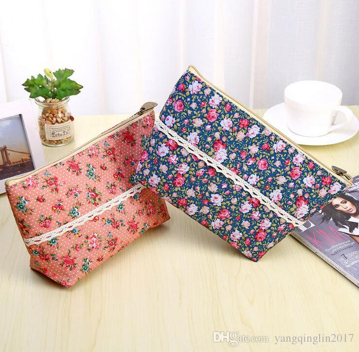 Florals Change purse Storage Box Travel Sunglasses Organizer Bags Case Comestic Makeup Package Pouch