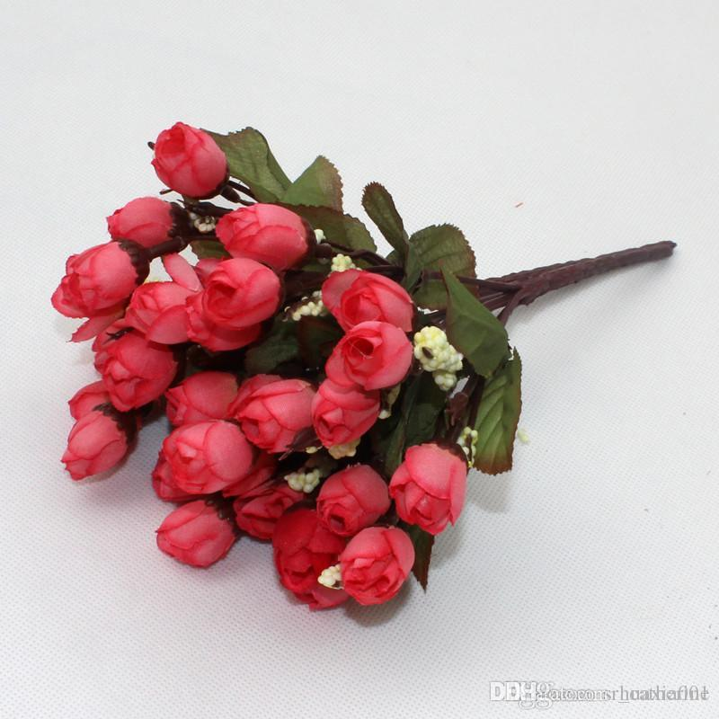 New 15 heads small silk rose flowers mini simulation rose buds new 15 heads small silk rose flowers mini simulation rose buds artificial flowers home wedding decoration wholesale small silk rose flowers simulation rose mightylinksfo Image collections