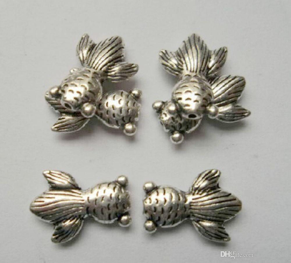 Горячей ! антикварные серебряные шарики шарма шарика 14.5x10mm приспосабливают браслеты вышитый бисером ожерелья
