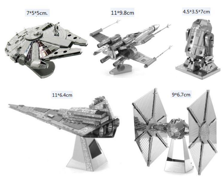 HEIßER 3D Puzzle metall modell kits Nano Puzzle F15 R2D2 roboter kits Imperial star Destroyer für kinder erwachsene Chirstmas geschenk DIY spielzeug