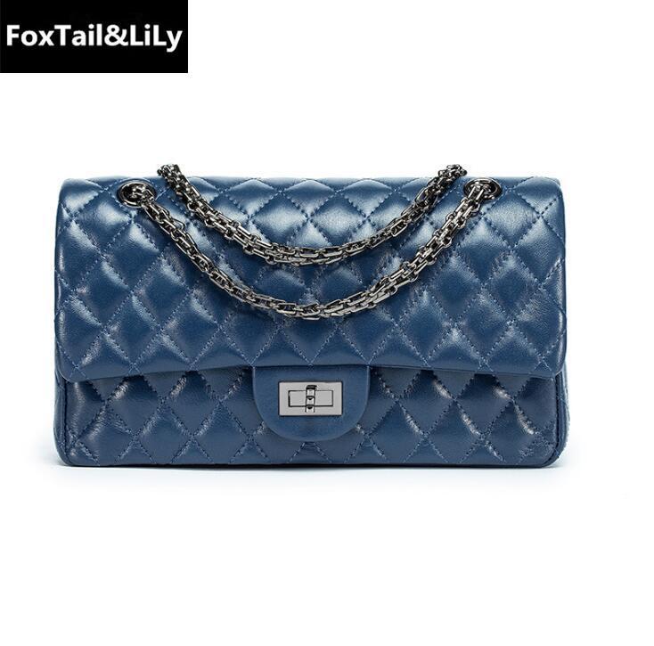 43d9fd385a50 Wholesale Brand Classic Argyle Leather Women Fashion Chain Bag ...