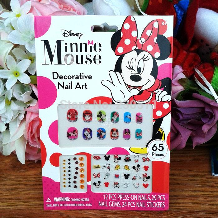 Minnie mouse nail sticker nail art gem princess sticker kids girl minnie mouse nail sticker nail art gem princess sticker kids girl nail art press on nails kids birthday party deco nail design ideas nails design from prinsesfo Images