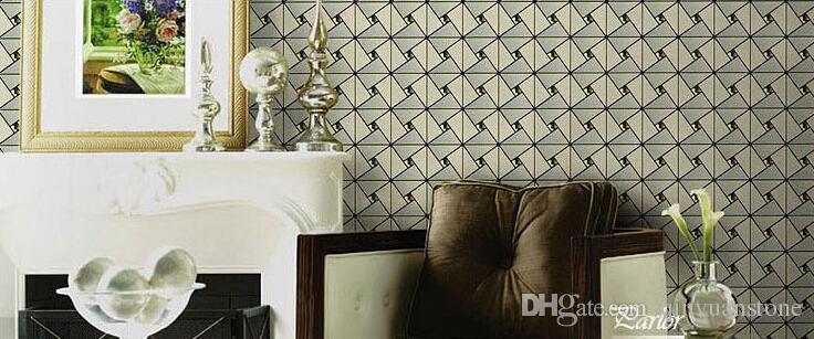 Espelho de vidro Alumnium mosaico azulejos telhas de parede mosaico de metal telha de fundo backsplash telhas montadas na parede