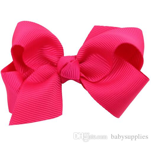 DIY Neon Grosgrain Bows on double prong clips Baby Hair bow ribbon Bowknot hairpin hair cilp