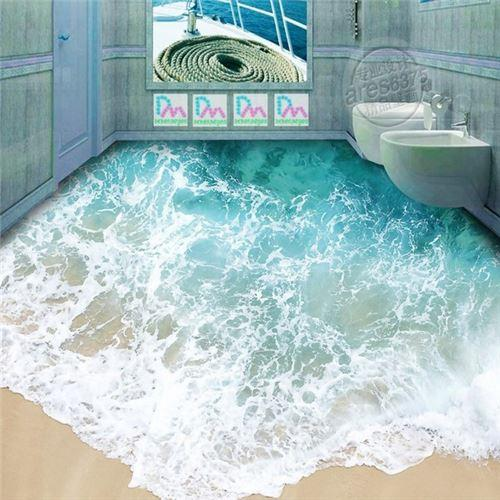 2018 2015 New 3d Tile Bathroom Floor Tile Shell Ocean Beach Home Improvement Main Material
