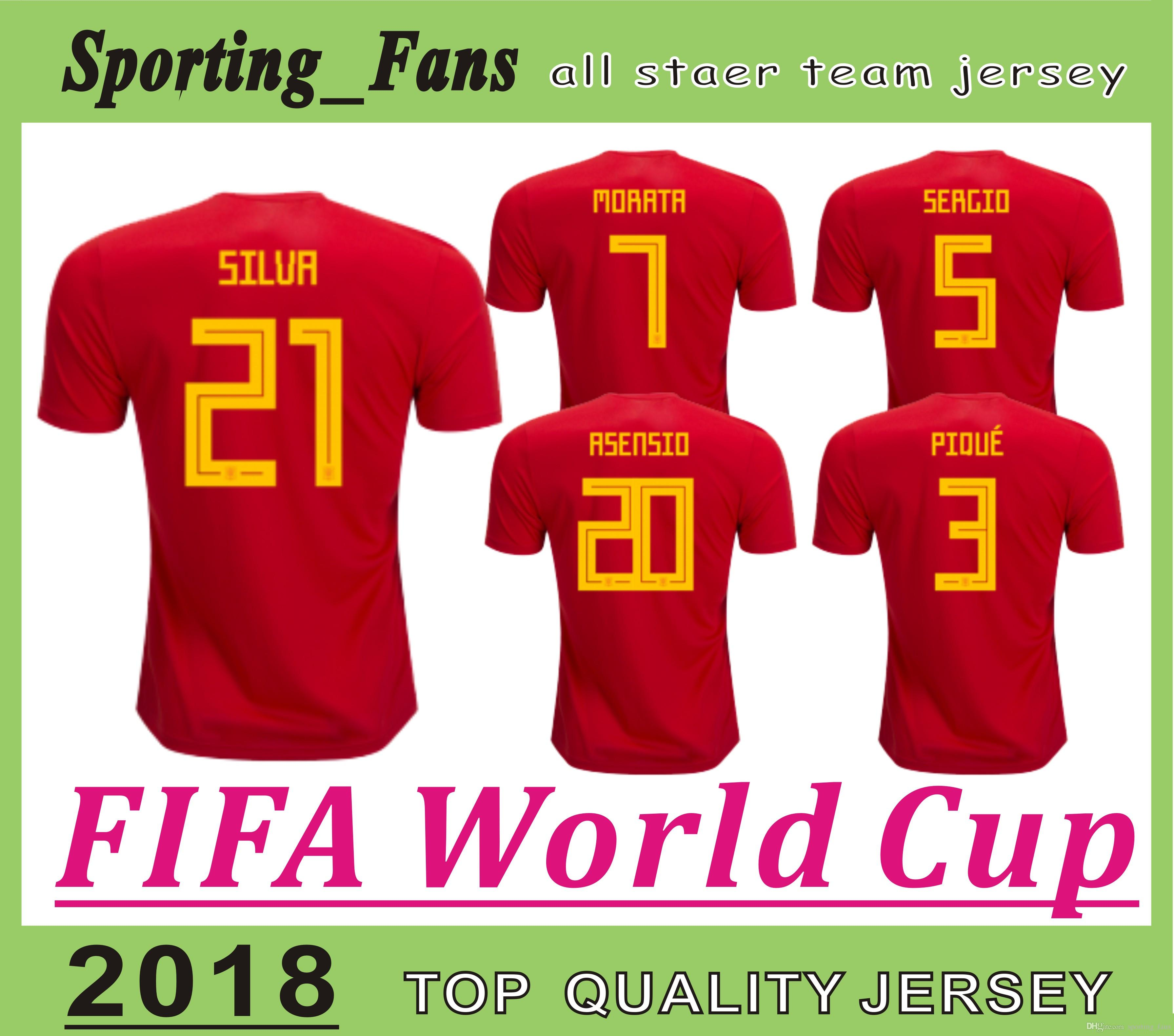 Top Quality Factory Wholesaler 2018 World Cup Spain JERSEYS Marco ...