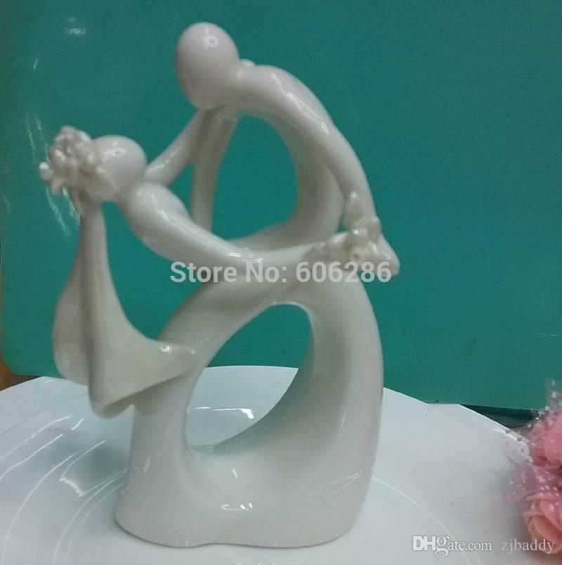 Wedding Cake Topper Wholesale Ceramic Bride And Groom Couple Dancing Figurines Decorations Top Quality Dhl Fedex Idea Decoration Ideas