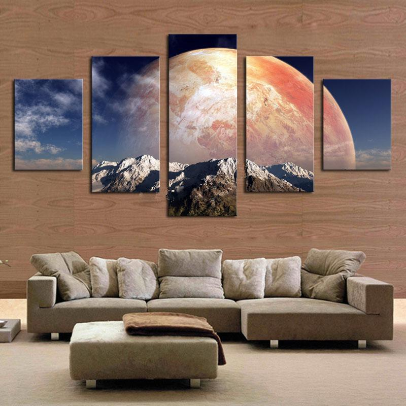 2017 Frameless Wall Art Painting High Quality Canvas Art Rainbow Mountain  Painting For Living Room Decor From Tian7777777, $18.1 | Dhgate.Com