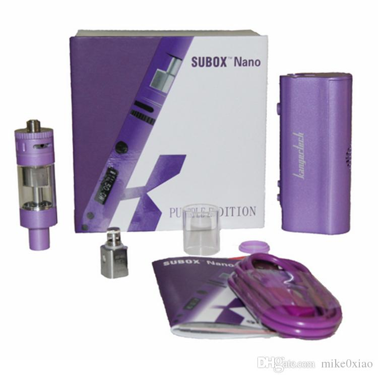 Kit de démarrage Kanger Subox Nano d'origine 100% Kit de démarrage Subvod Kit de démarrage Nebox Kit de démarrage Subtank Nano VS Sigelei Aspire