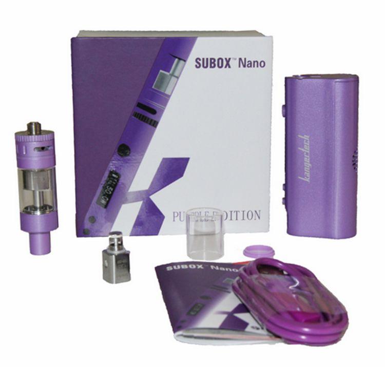 Аутентичные Subox Nano Kit Электронная сигарета Kangertech Subox Nano Стартовый комплект для модераторской коробки с Kbox 50w Мод для коробки и Subtank Nano