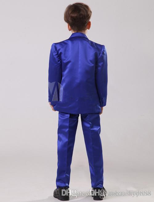 Boy's Formal Wear 2016 Handsome Custom Made Size and Color Children Boy Wedding Suit Boys' Formal Jacket+Pants+Tie+Waistcoat