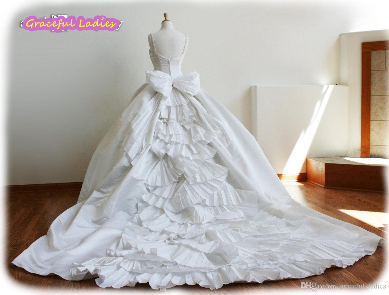 White Cinderella Wedding Dresses Plus Size Ball Gown Bridal Dress ...