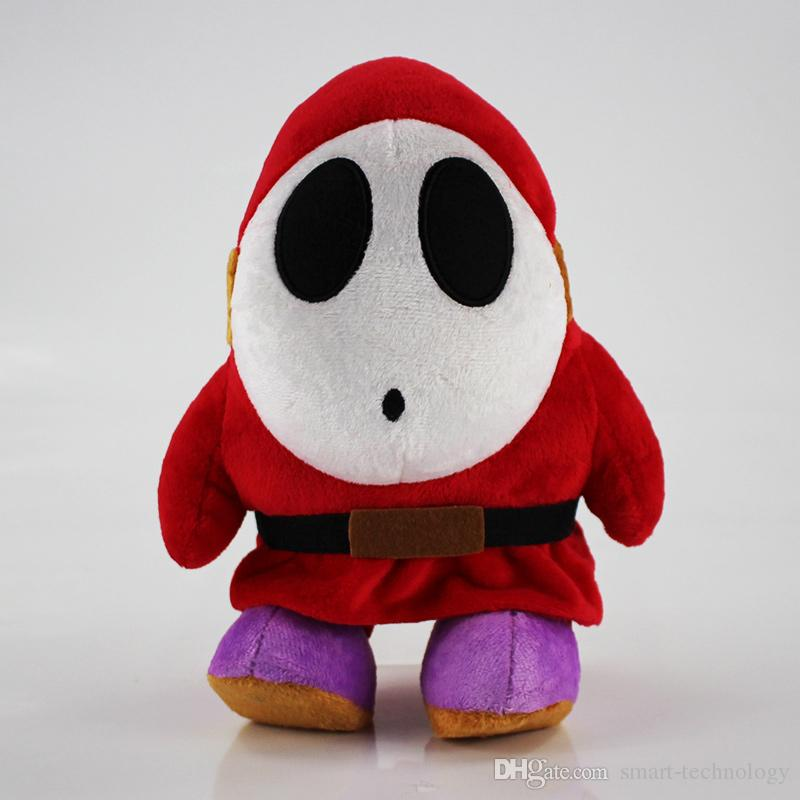 / set Shy Guy Plush Doll Super Mario Bros Plush Stuffed Toys bebê Toy frete grátis