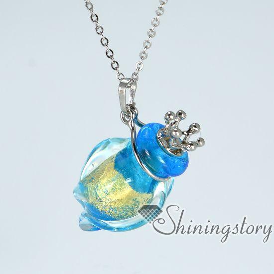 cone perfume sample vials murano glass small perfume bottle pendant necklace diffusers essential oil necklace wholesale
