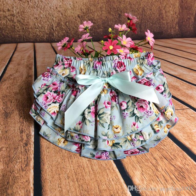 Девочка PP брюки трусы малыша трепал шаровары для ребенка хлопок PP брюки цветок печатных Детское нижнее белье 38 стили DHL доставка