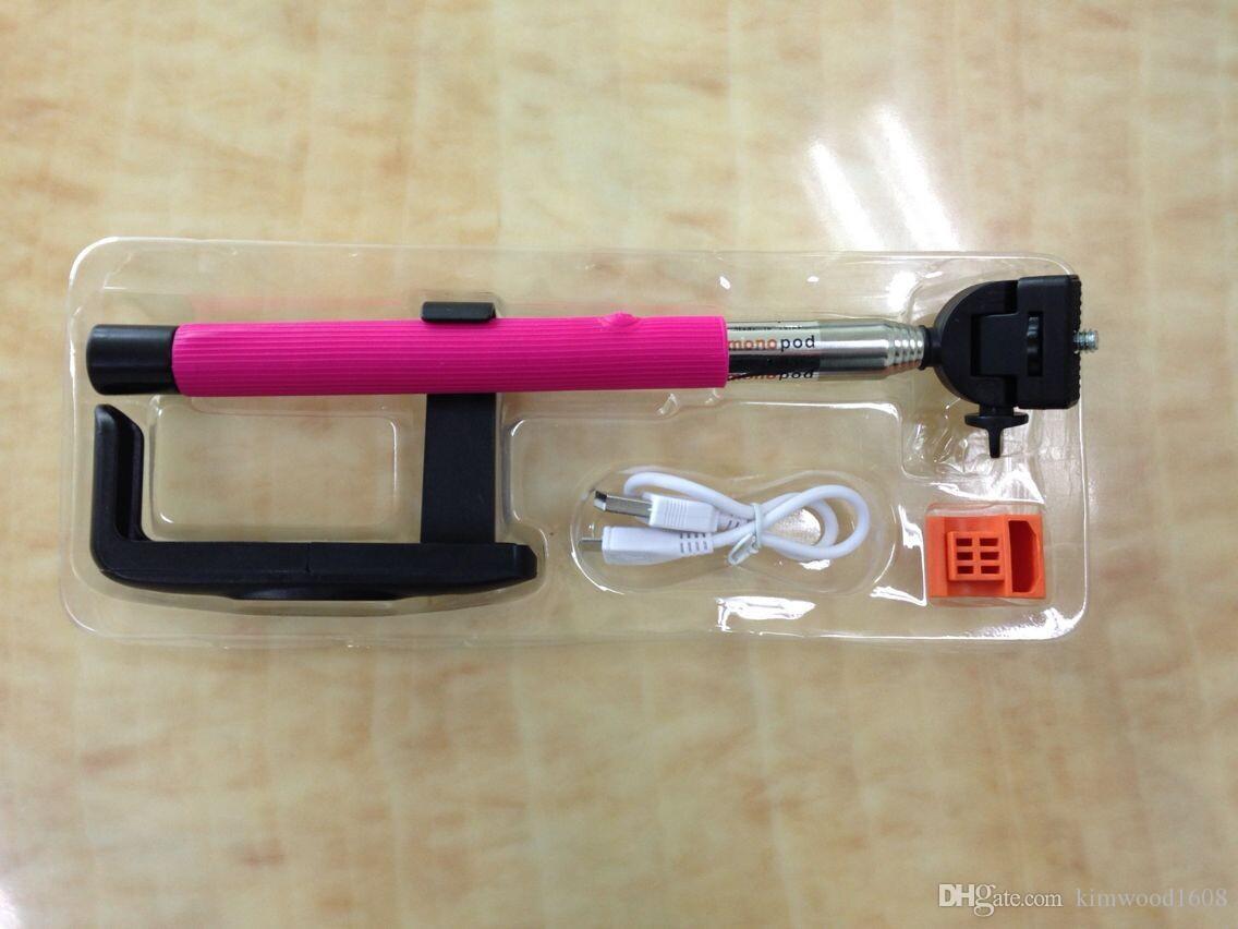 Monopé sem fio da câmera do Self Monopod Bluetooth Selfie da vara com zoom Monopods da câmera da tela Autodyne do controle remoto para Iphone Samsung Phones