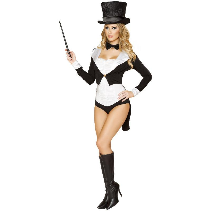 Ringmaster Costume Adult Sexy Naughty Circus Mischievous Magician Black Ladies Cosplay Halloween Costumes For Women Fancy Dress Disco Costume Pet Halloween ...  sc 1 st  DHgate.com & Ringmaster Costume Adult Sexy Naughty Circus Mischievous Magician ...