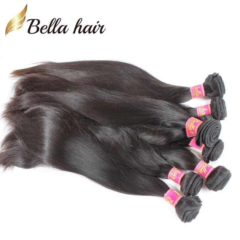 100% монгольские прямые волосы утомительные волосы наращивания волос 4 шт. / Лот Remy Virgin Pair Bundles Натуральная Colorbellahair