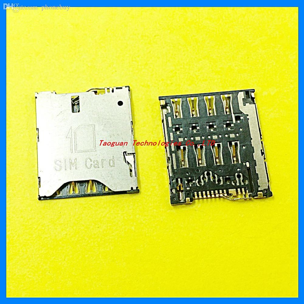 Wholesale 100 New Sim Card Socket Reader Holder Tray Replacement Nossy For Alcatel One Touch Idol X Ot 6040 6040d High Quality Noosy Cutter
