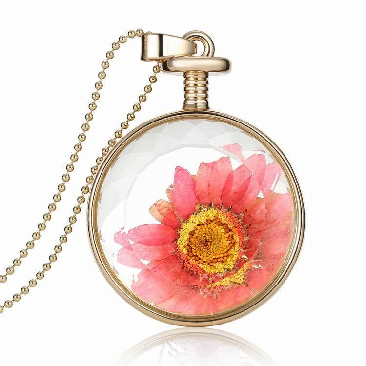 store optional flower charm chain transparent lockets cabochons locket necklace round pendants floating multicolor frames gold product glass perfume