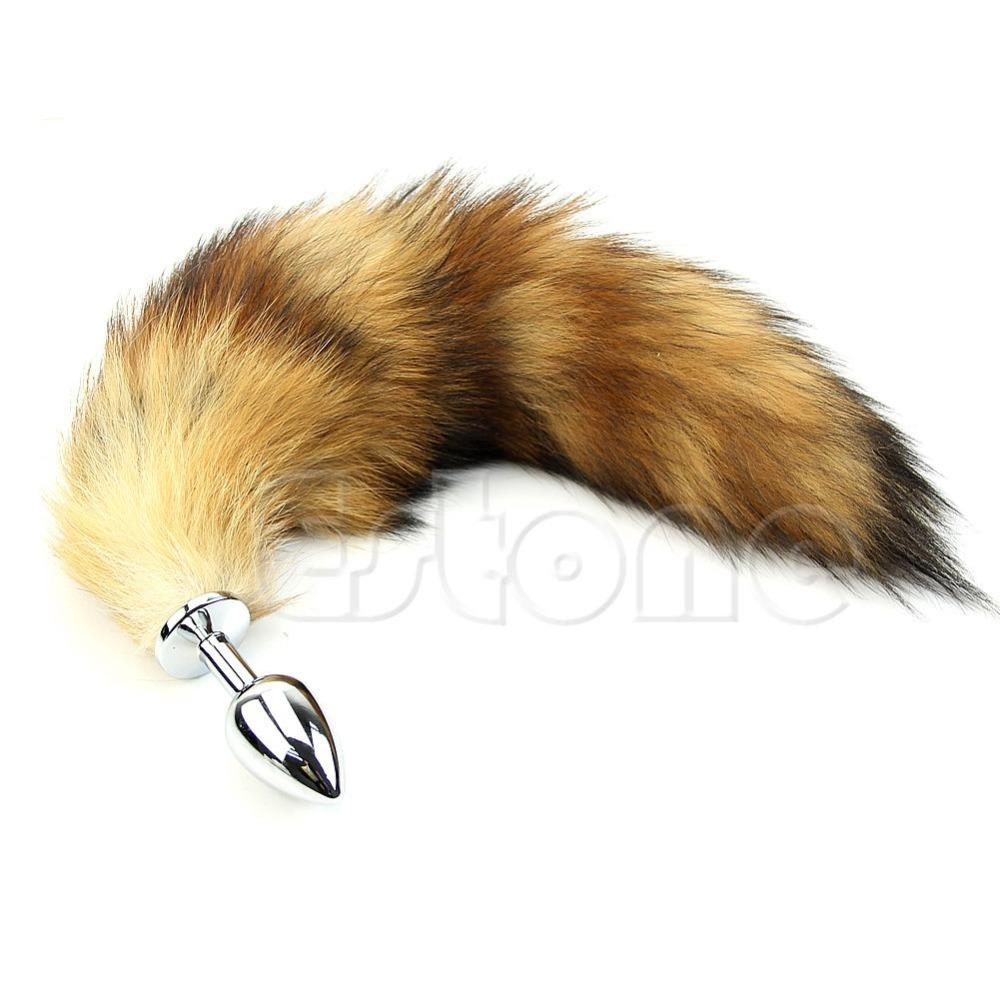 ba25c0affd8 New Funny Adult Love Fox Tail Butt Anal Plug Sexy Romance Sex Toy Vibrador  Sexy Shop From Mingqiaozj575