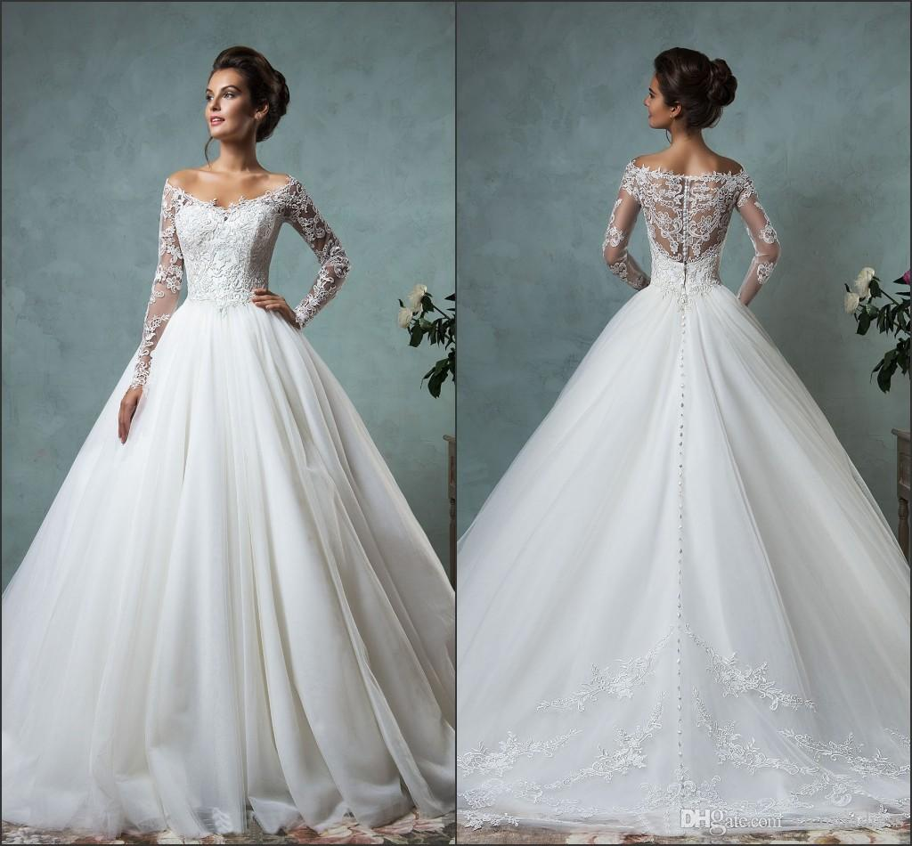 2016 Spring Amelia Sposa Wedding Dresses Off The Shoulder Long ...