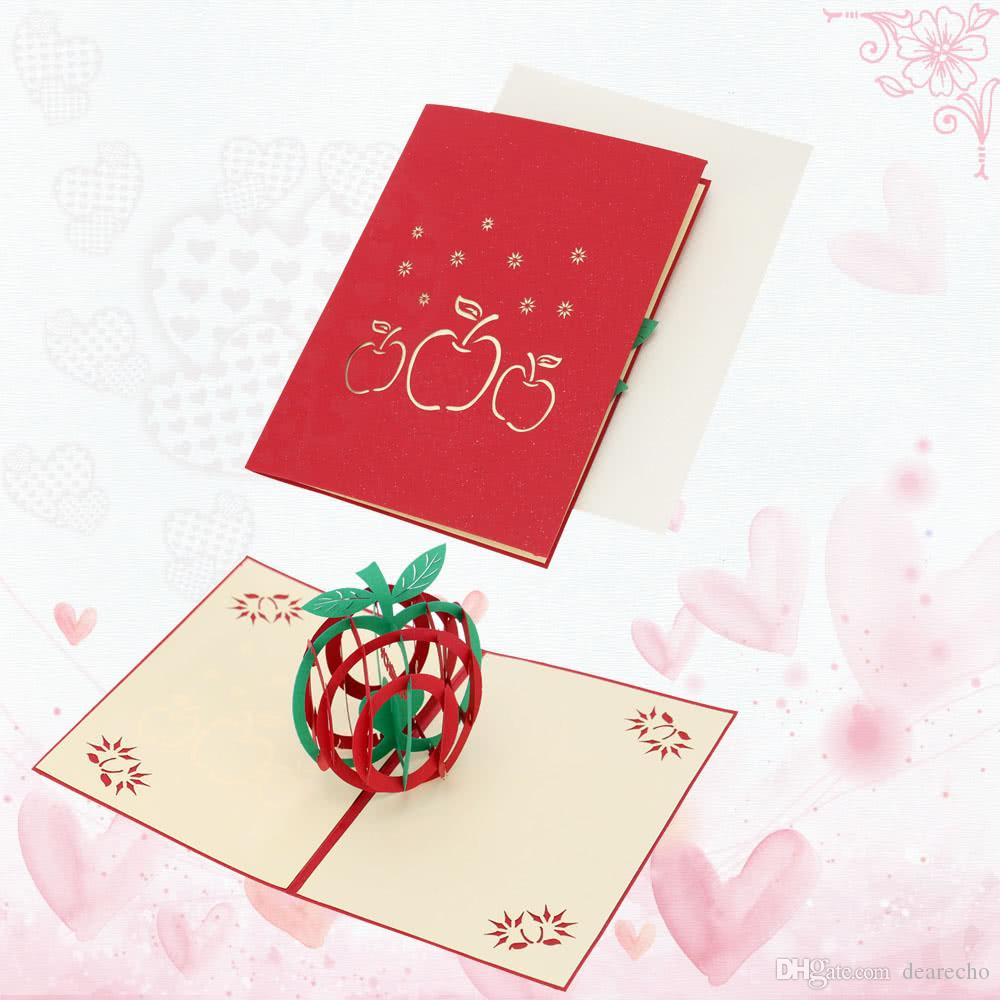 3d Handmade Folding Christmas Card Pop Up Kirigami Xmas Greeting