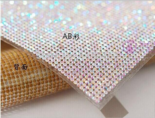 Fashion Rhinestone Sheet 24x40cm roll Hotfix Motif Trimming Super Closed  with 2mmSS6 Crystal Stones AB Color Rhinestone Mesh Online with   29.72 Piece on ... 51f8cf317fe6