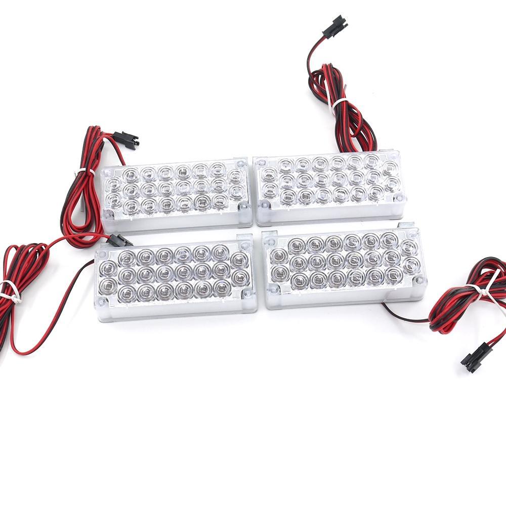 4X22 LED Strobe Emergency Flashing Warning Light Car Truck Lights Strobe Lights 12V Red Blue Amber White Green 88LED
