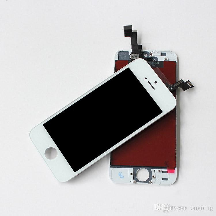 Black White LCD Display & Touch Screen Digitizer Full Assembly for iPhone 5S iphone 5C 5G Replacement Repair Parts DHL Free Ship