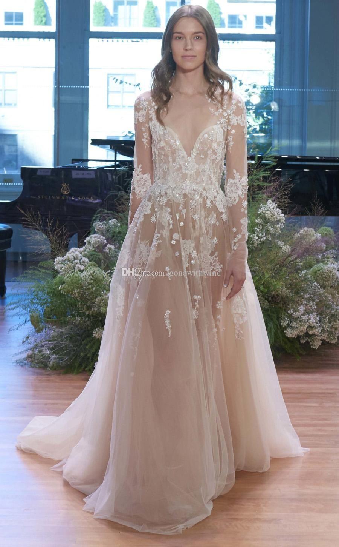 Discount Long Sleeved Sweetheart Neckline Wedding Dresses 2017 ...