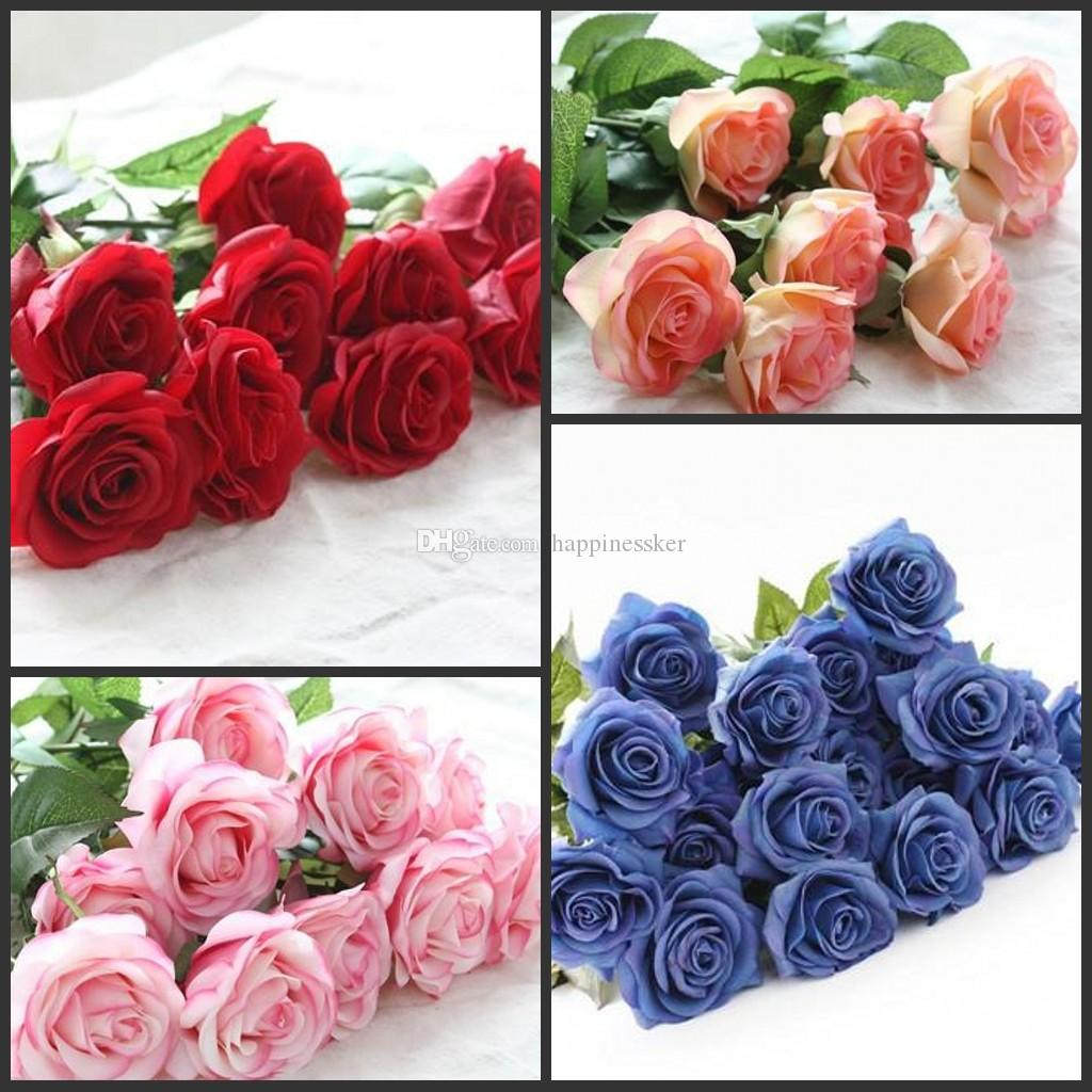 25d2499719340 10pcs/lot Decor Rose Artificial Flowers Silk Flowers Floral Latex Real  Touch Rose Wedding Bouquet Home Party Design Flowers