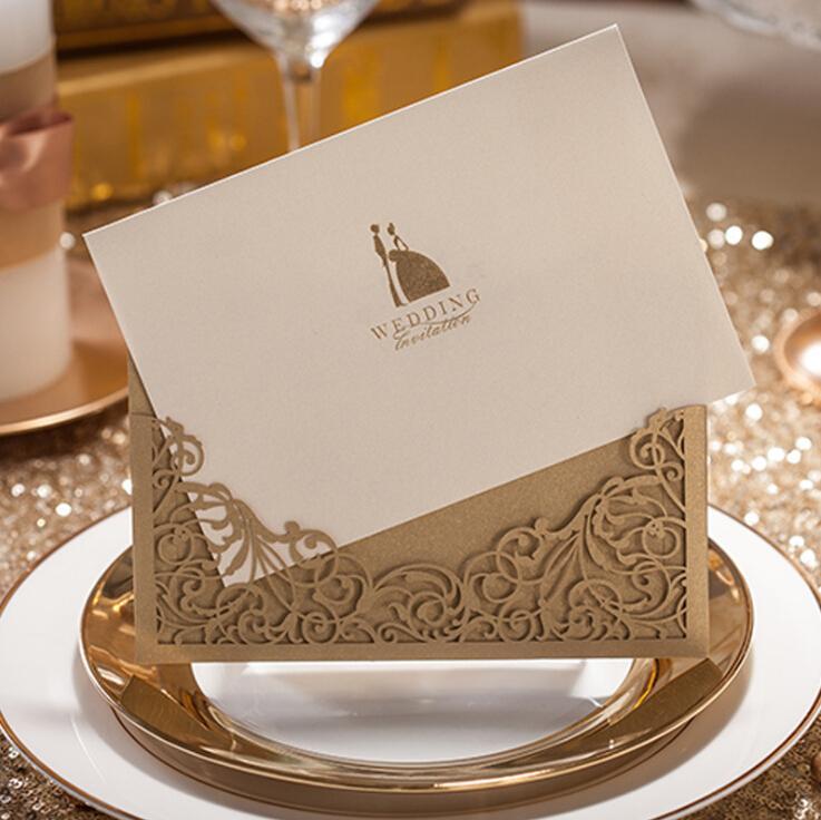 Hot Vintage Design Wedding Invitations Personalized Customized
