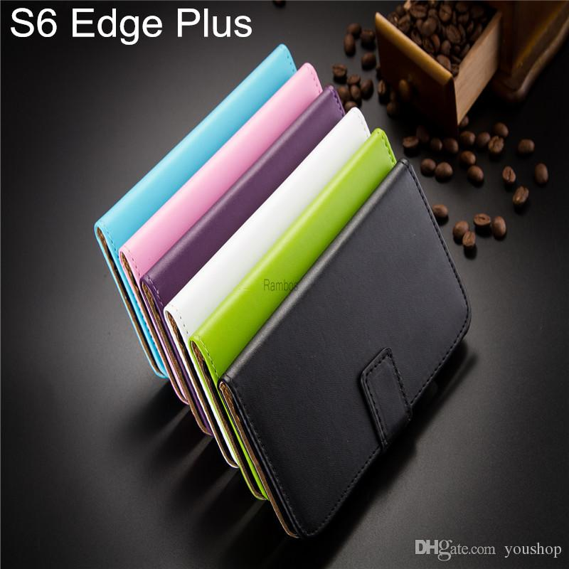 best service f1686 6e4ab For Samsung Galaxy S6 Edge Plus Wallet Style Leather Flip Case Cover Cell  Phone Cover Stand Card Cash Slots for iphone 6