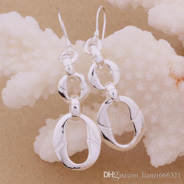 Mode fabricant de bijoux beaucoup chaîne boucles d'oreilles 925 bijoux en argent sterling prix usine mode Shine boucles d'oreilles