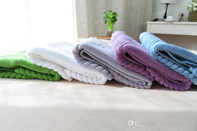 100% Cotton Footprint towel Hotel Flool Mat Bathroom Towels Absorbent Non-slip Carpets Step Foot Pad Kitchen Rugs 75x45cm