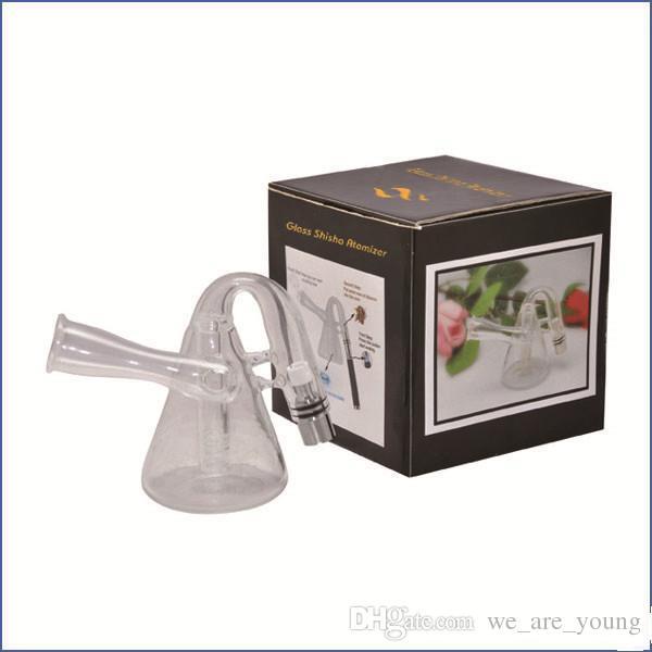 Pyrex Glass shisha atomizer pipe Tank Wax Coil Glass water atomizer Aqua Bubbler