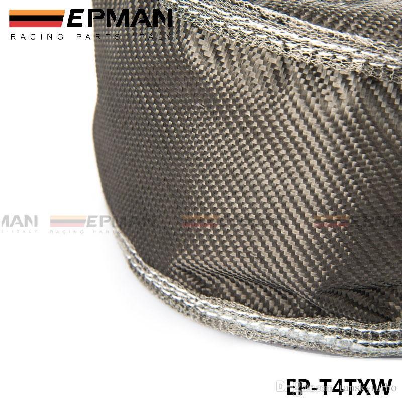 Tansky - EPMAN Carbon Fiber Turbo Deken Warmte Shield Cover Hoge Prestaties voor T4 GT45 GT40 GT47 EP-T4TXW