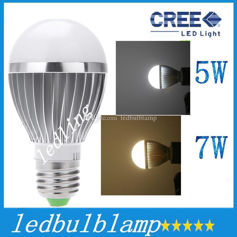CREE Bulbs AC85 265V Lamps LED E27 Motion Sensor Light 5W 7W Auto