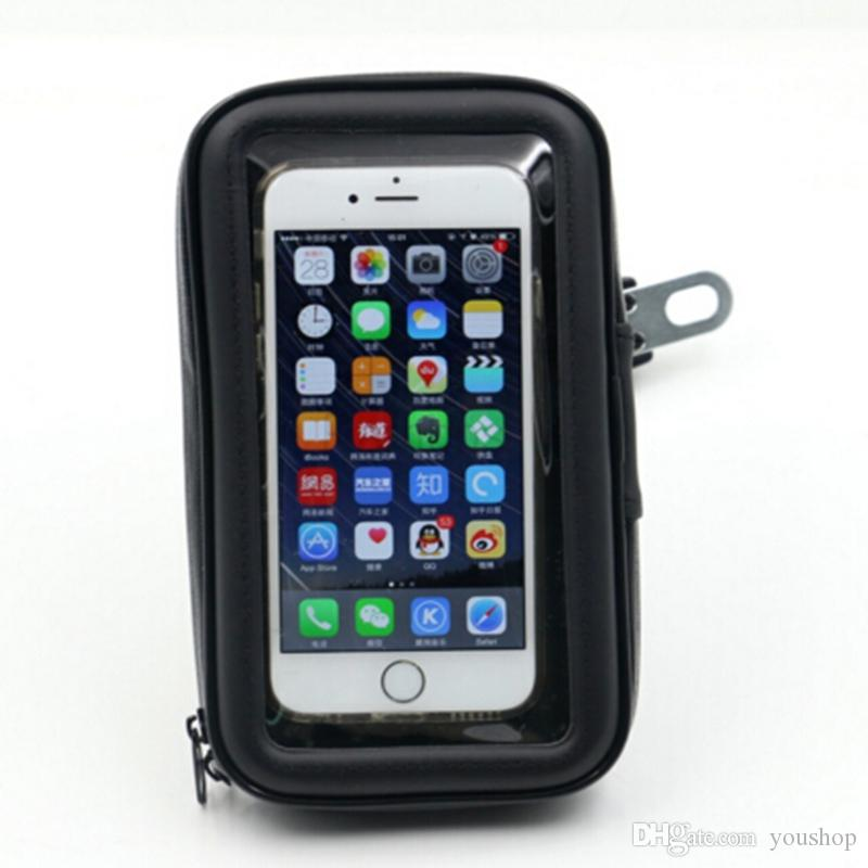 Universal Waterproof Case Bag Motorcycle Mirror Mount Mobile Phone Holder for iphone 6s plus 7 7plus