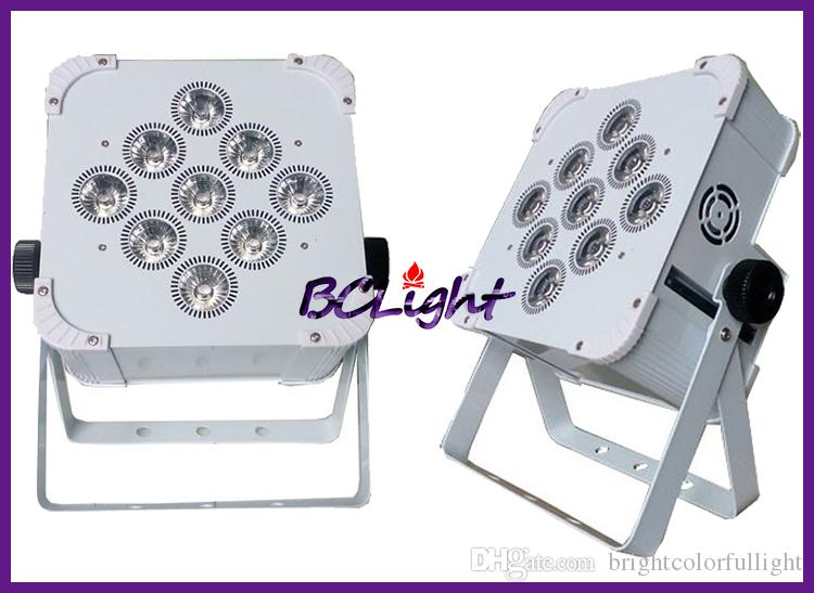 10lights+1 fly case Hi-Quality newest 9*18W 6in1 RGBWA+UV Battery Wireless Flat Led Par Lights DMX 512 Battery Slim Led Par Lights